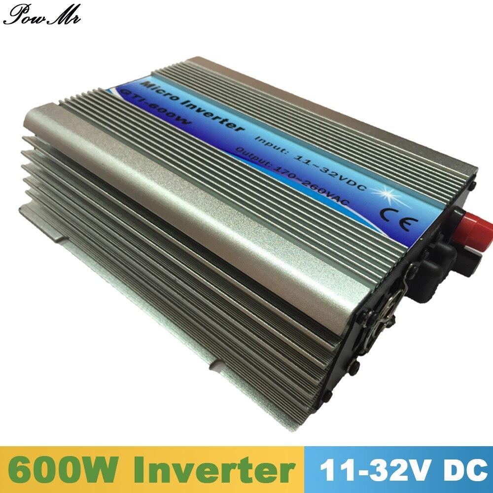 600 Вт сетка галстук инвертор MPPT функция 11-32VDC вход В 110 В 230VAC микро сетка галстук Чистая синусоида Инвертор 11 В в В 32 В к 110 V 220 V