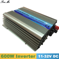 600W Grid Tie Inverter MPPT Function 11 32VDC input 110V 230VAC Micro Grid Tie Pure Sine Wave Inverter 11V 32V to 110V 220V