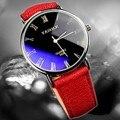 Новый Нержавеющей Стали ПУ кожа Мужчины и женщины Военная Спорт Аналоговый Кварцевые Наручные Часы указатель часы