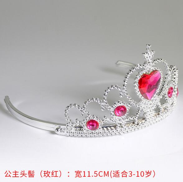Hot sale Frozen Crown Princess Hair Accessories Bridal Crown Crystal Tiara Hoop Headband Hair Bands For Kids Christmas Gift in Hair Accessories from Mother Kids
