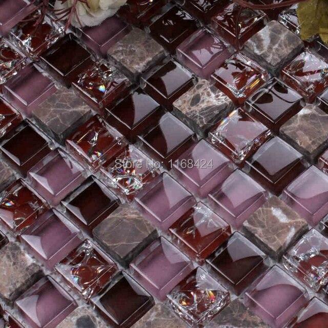 Eis Knistern Kristall Mosaik Fliesen Lila Farbe Glas Mosaik Quadratischen  Für Backsplash Fliesen Badezimmer Dusche Fliesen