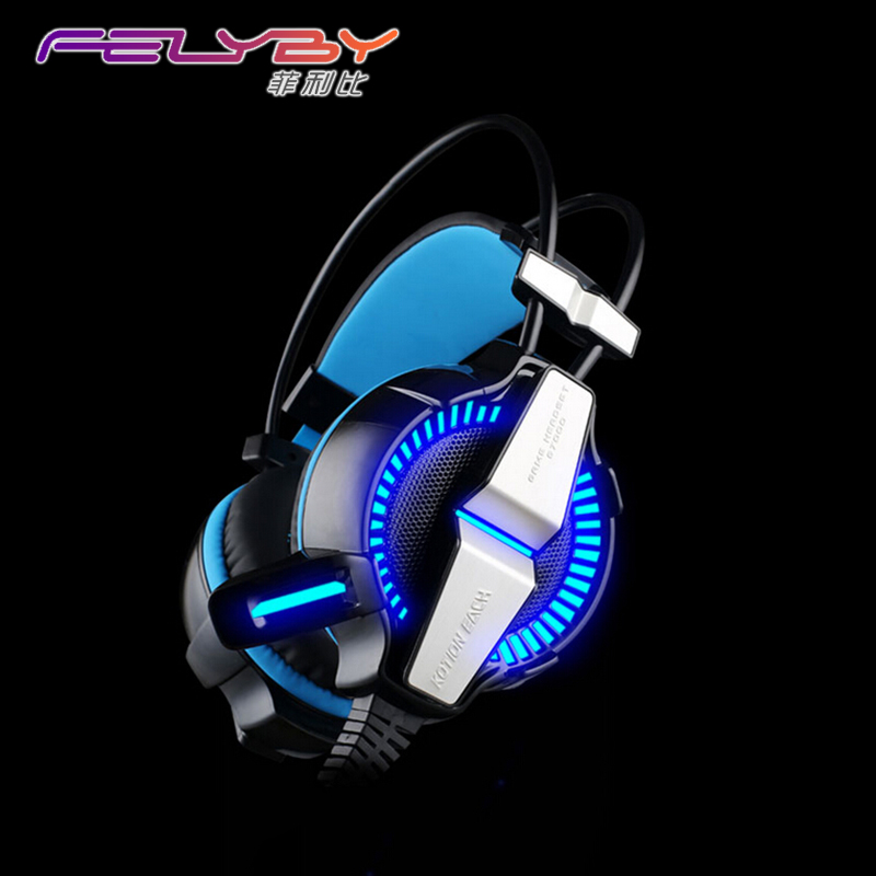 G7000 Headphones Headset Microphone LED Light 7.1 Virtual Surround Sound Vibration Competitive Edition Game Computer Headphone each g8200 gaming headphone 7 1 surround usb vibration game headset headband earphone with mic led light for fone pc gamer ps4