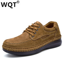 Chaussure Homme 2017 New Fashion 100% Genuine Leather Men Casual Shoes Comfortable breathable Oxfords Round Toe Lace Up Flats