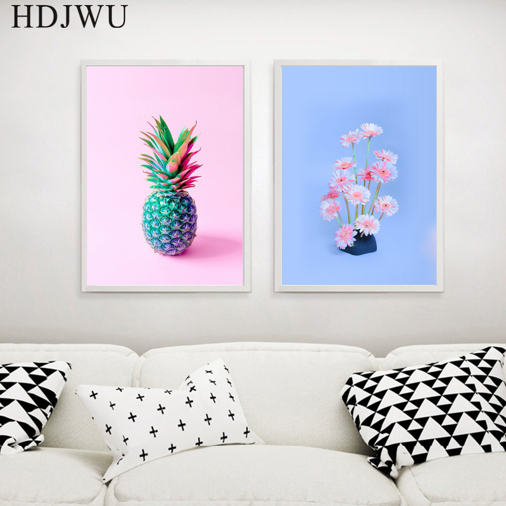 Nordic Art Home Canvas Painting Wall Picture Fashion Plants pot Printing Posters for Living Room Decor AJ0066 in Painting Calligraphy from Home Garden
