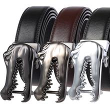 2019 Top Sale Popular Leather Belt New Crocodile Automatic Buckle Cowhide Designer Men Black Belt Brand Business Male Belts hot sale business male black belts famous brand popular leather belt newest automatic buckle designer men black belt 2019