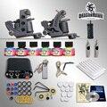 Полный Комплект Татуировки 2 Машины Gun 6 Цветных Чернил Питания Иглы Set
