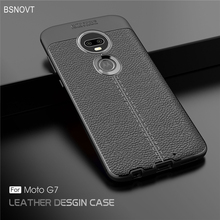 For Motorola Moto G7 Case Soft Silicone PU Leather Shockproof Anti-knock Cover BSNOVT