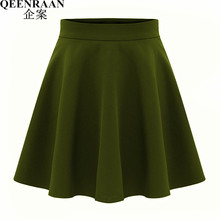 2017 New Classic Saia Midi Skirts Womens High Waist Pleated mini Skirt Female  Short Skater Skirts Faldas Ladies Clothes