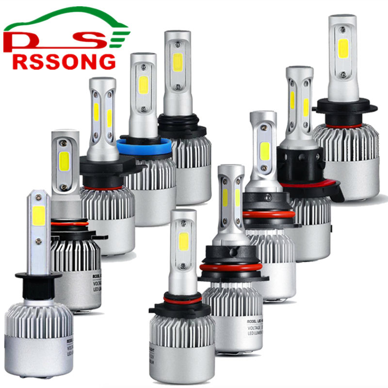Led Car Headlight H1 9005 HB3 9006 HB4 H11 H4 H7 12V 72W 8000LM 6500K Automobile Bulb All In One Auto Front Lamp Bulb Hi-Lo Beam