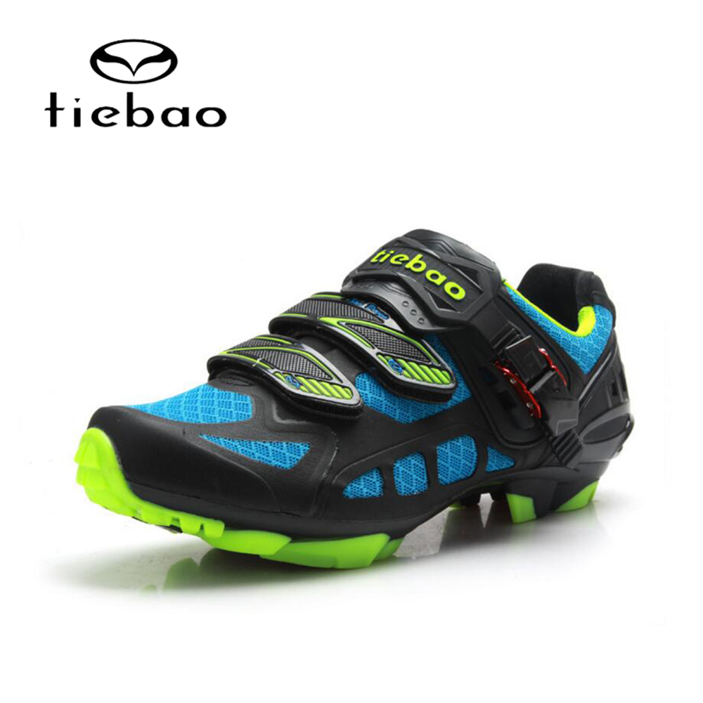 TIEBAO Mountain Bike MTB Cycling Shoes Men Self-Locking Bicycle Bike Shoes Racing Athletic Cycling Shoes Riding Equipment