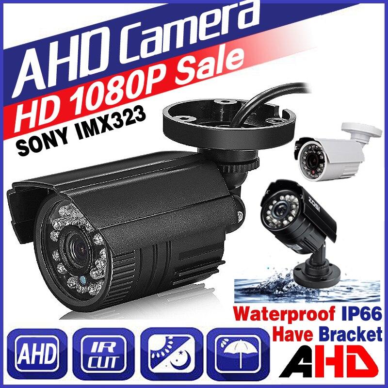 De julio de gran venta HD Mini CCTV AHD cámara SONY IMX323 720 p/960 P/1080 p Digital completo 2.0MP IP66 al aire libre infrarrojos IR bala Vidicon