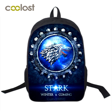 ed1cc57058 Game Of Throne Backpack for Teenagers Girls Boys School Bags Valar  Morghulis Toddler Backpack 16 Inch