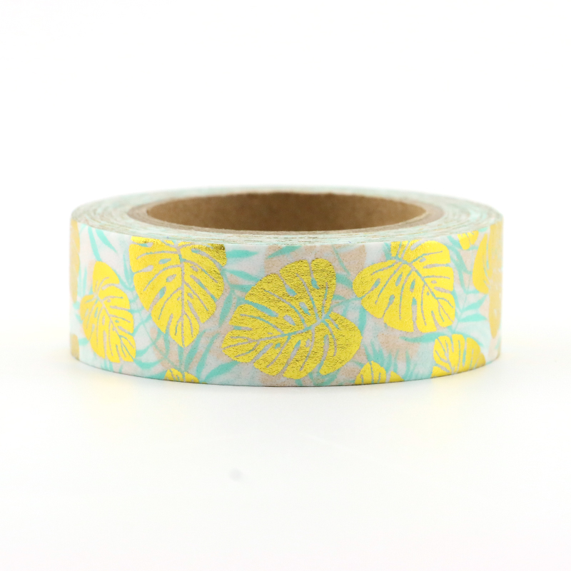 New 1pcs15mm*10m Gold Leaf And Paper Tape