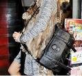 Punk Skull Rivet Shoulder Handbag Pu Leather Hobo Bag School Satchel
