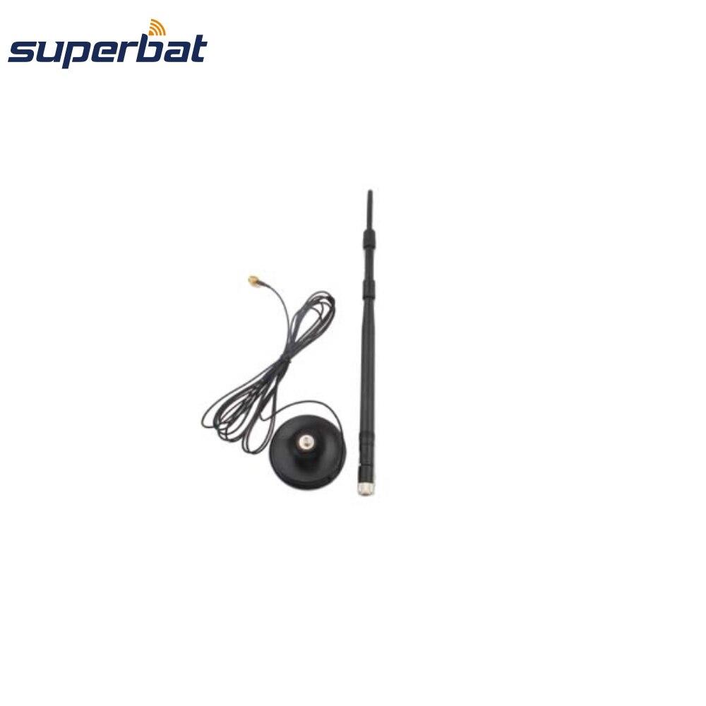 Superbat 2,4 GHz 9dBi 2400-2500MHz Omni wifi антенный усилитель с 50 Ом 3 м расширенный кабель RP-SMA папа настраиваемый