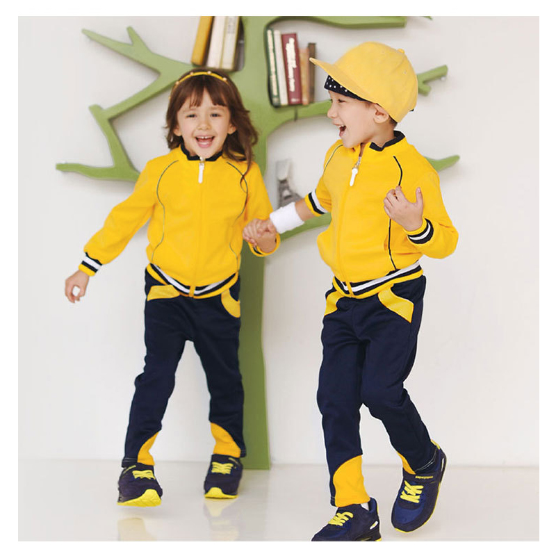 Kids Sport Suit for Boys Girls Clothes Baby Sets Coat/Jacket and Trousers 2 Piece Tracksuit Brand 2018 New Infant Clothing Set