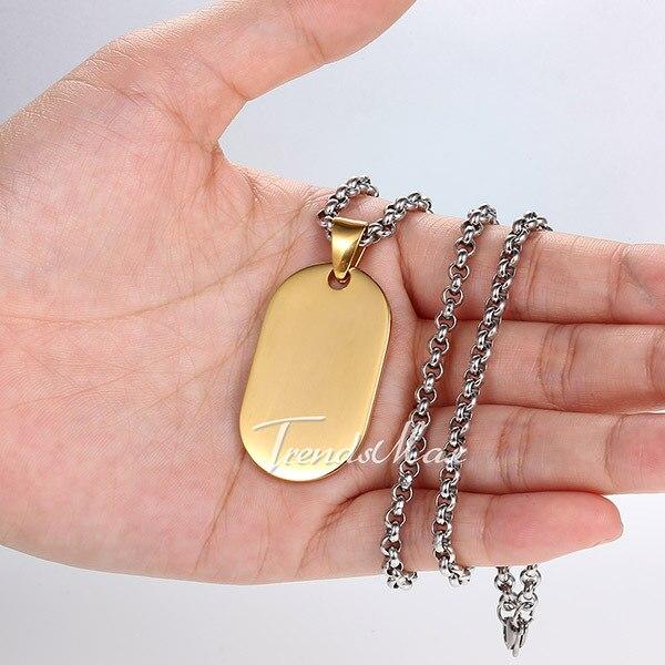 d7ed708a7451 Para hombre mujer cepillado suave corazón amor Oval rectángulo de perro  perro ID Etiqueta de plata tono de oro de acero inoxidable colgante de  regalo de San ...
