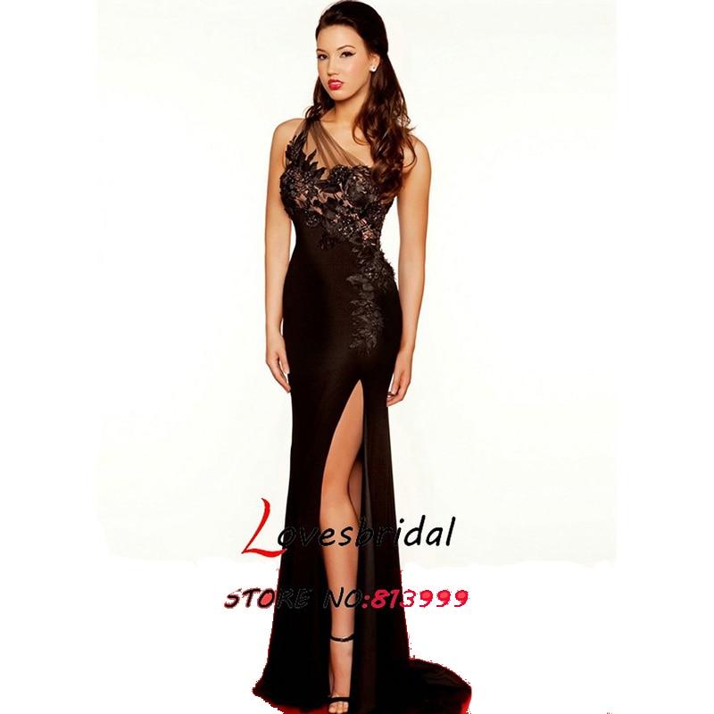 Black dress see through sides
