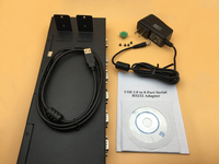 USB to 8 Ports Serial Adapter USB2.0 to RS232 DB9 Pin COM Port Hub Converter FTDI Chip Support Mac OS