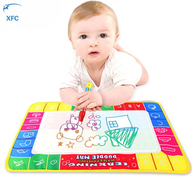 XFC Childreb Baby Drawing Water Pen Painting Magic Doodle Aqua Doodle Mat Board Kids Toy Christmas Gift