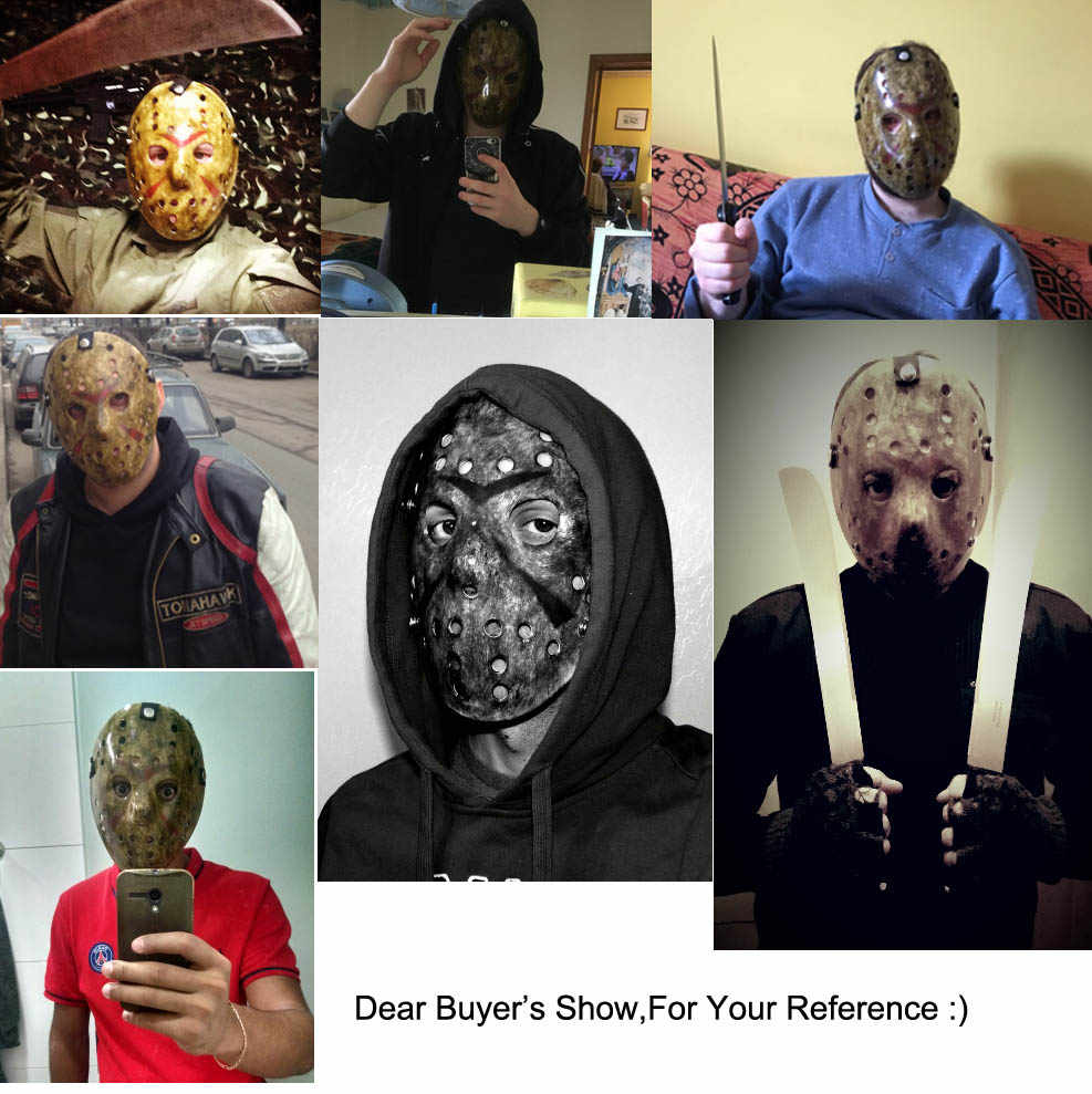 Baru Make Old Cosplay Delicated Jason Voorhees Freddy Hoki Festival Pesta Halloween Masquerade Masker --- Penuh Cinta