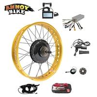 48v1000W 24 26 4.0 Electric Motor Wheel Fat Bike Conversion Kit Dirty Electric Snow Bike DIY Kit Bicicleta Electrica Hub Motor