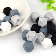TYRY.HU 10pcs Silicone Beads 14mm Baby Teething Teether Bead Food Grade Nursing Toy DIY Pacifier Accessory Perle