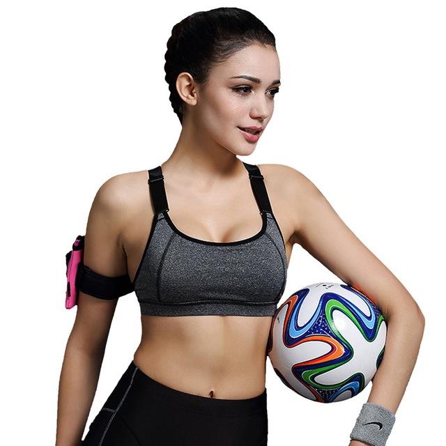 Vertvie  Padded Push Up Breathable Gym Bra
