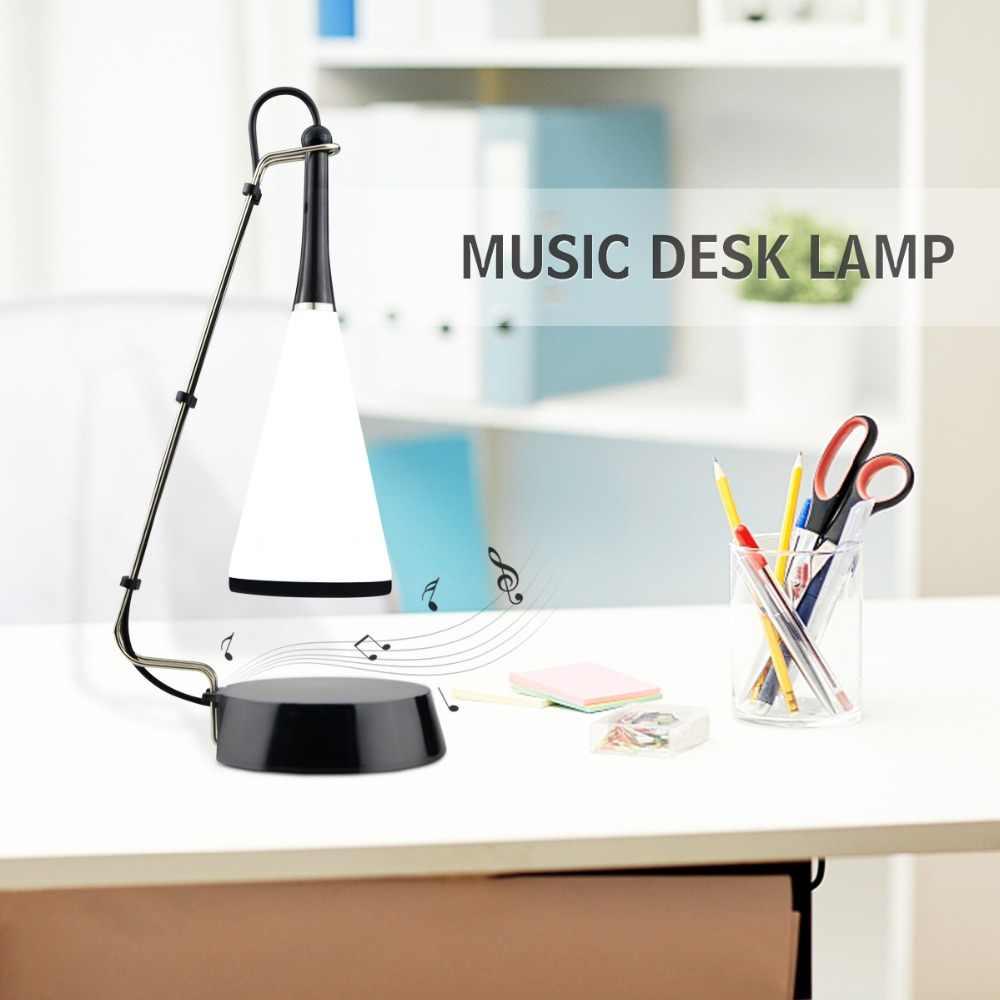 Сенсорный светодиодный настольный светильник с Bluetooth динамиком, перезаряжаемая Настольная лампа с USB, светодиодный светильник для чтения книг, освещение для дома, спальни