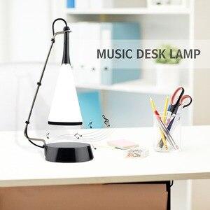 Image 5 - Lámpara LED de mesa con Sensor táctil, Altavoz Bluetooth, lámpara de escritorio recargable por USB, luces led de lectura para estudio, iluminación para dormitorio y hogar