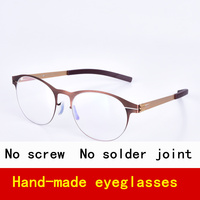 Screwless Brand Glasses Frame Man Round Frame Retro Style Suitbale For Any Face Eyeglasses For Myopia