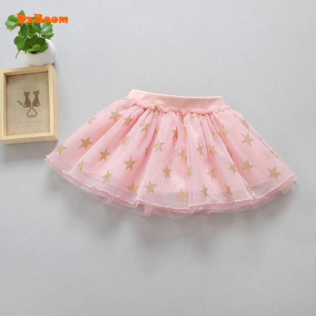 DzBoom Toddler Princess Girl Tulle Skirt Summer Kids Kawaii Clothes Sequin Star Print Dance Mini Fluffy Tutu Girls Skirts New