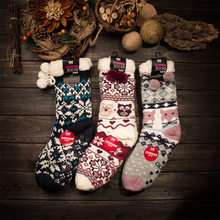 Autumn And Winter Warm Women Socks Cartoon Coral Velvet Thicker Non-Slip Floor Funny Socks Pilates Chaussette Femme Coturno