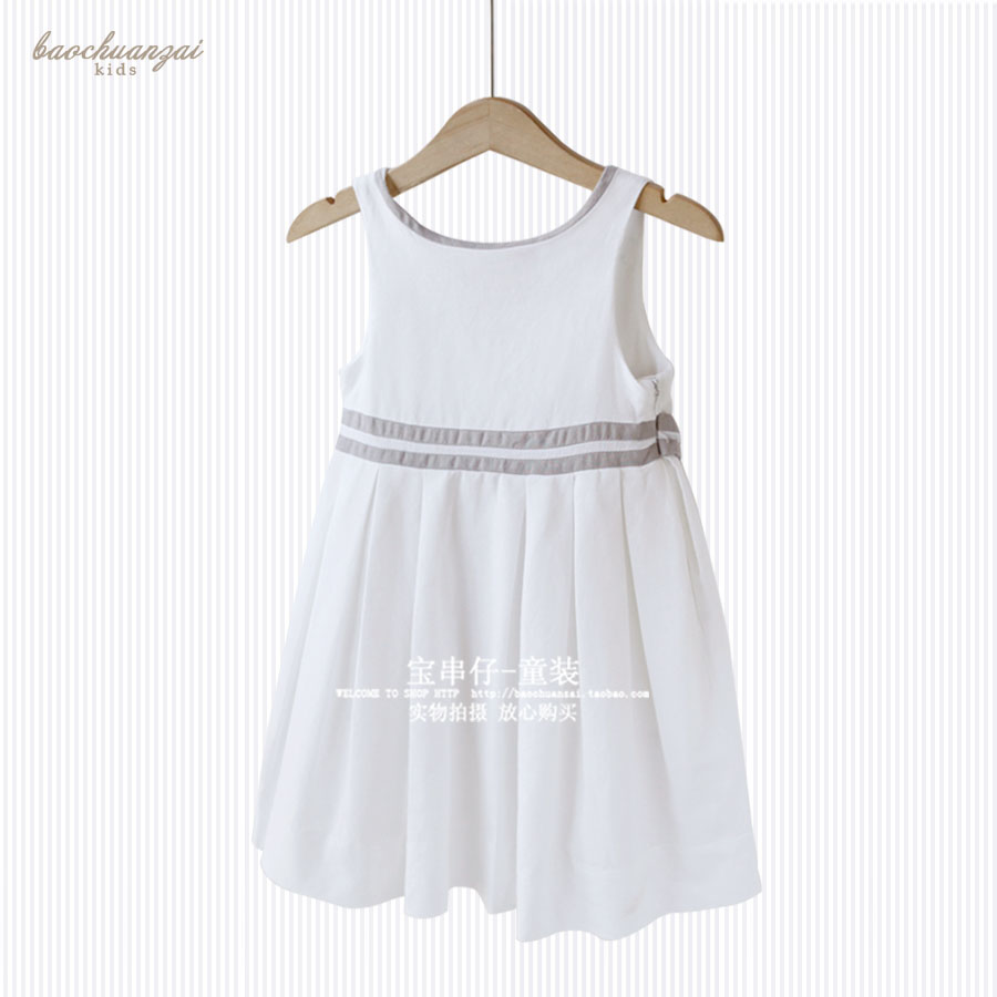 цены  Cotton Lace Girl Dress Kids 2017 Summer New Embroidered Children Clothes White Lace Princess Korean Cute Thin Dress