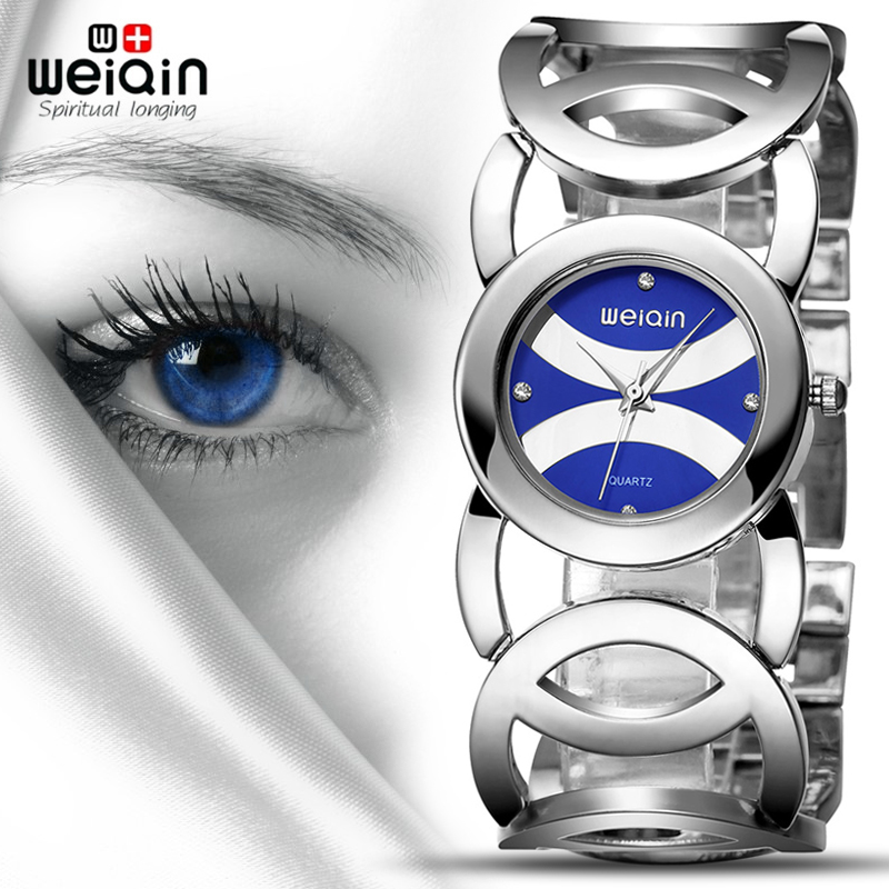 WEIQIN 2017 Popular Colors Magic Blue Women Watches Luxury High Quality Montre Femme Stainless Steel Dress Woman Wrist Watches kcchstar the eye of god high quality 316 titanium steel necklaces golden blue
