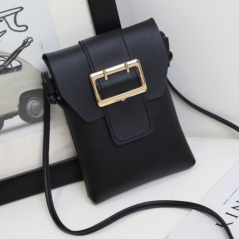 HD Brand Women Mobile Phone Bags Fashion Small Change Purse Female Woven Buckle Shoulder cross body Bags Mini Messenger coin Bag