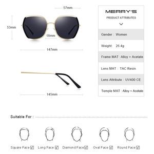 Image 3 - MERRYS gafas de sol polarizadas de lujo para mujer, lentes de sol con diseño a la moda, protección UV400 S6267