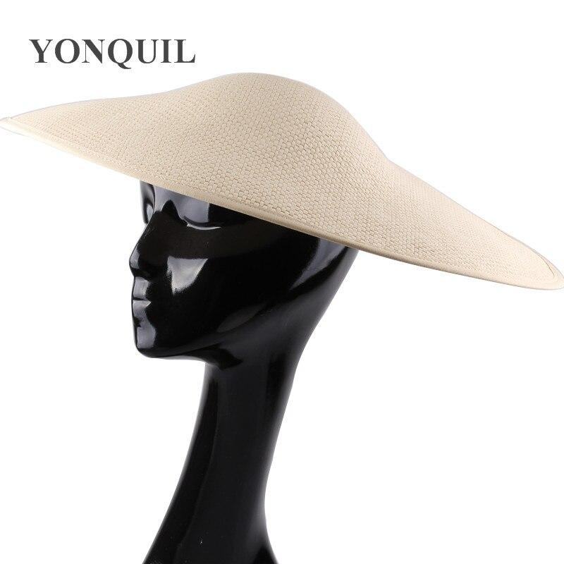 Big Size 45*33cm Irregular Shaped Fascinator Base Hats Party Headwear Cocktail Fascinator Hair Accessories DIY Wedding Headpiece