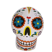 Novetly Skull Mask Giant Inflatable Toys LED Lighted Christmas Halloween Oktoberfest Party Props Yard Outdoor Blow