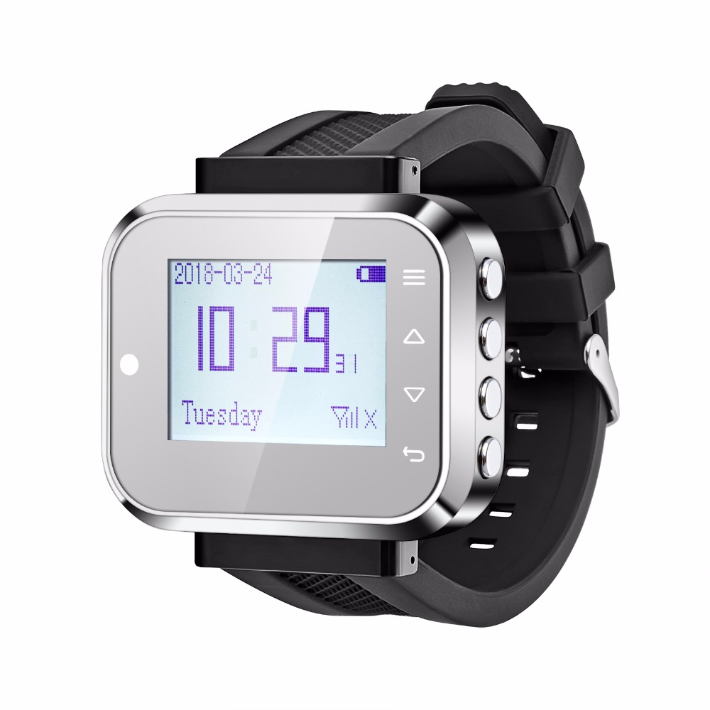 KERUI (KR-C166) Fashionable White/Black Wireless Waiter Pager Calling System Watch Hospital/Bank/Hotel/Restaurant Calling System цена