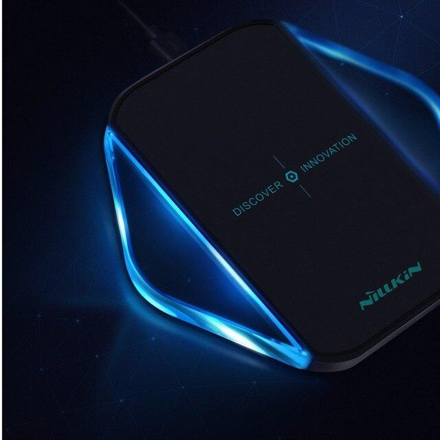 Nillkin carregador sem fio qi carregador de energia sem fio de carregamento pad para iphone 6,6 s, 7,7 plus para samsung s6 s6 edge s7 s7 edge nota 5