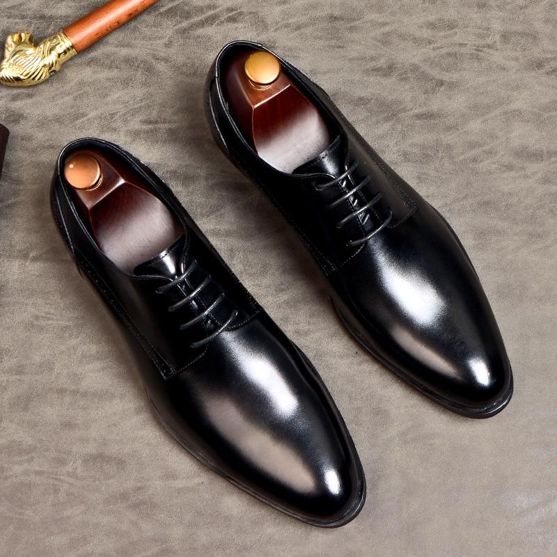 sapato ponta fina elegante com cadarço, calçado oxford confortável eua 11.5