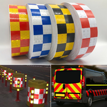 5cm width Reflective Tape Stickers Auto Truck Pickup Safety Material Film Warning Car Styling Decoration