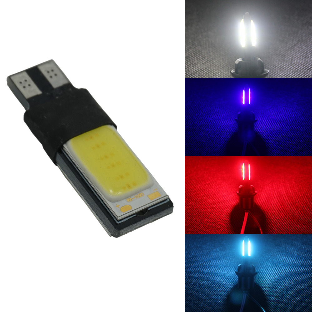 T10 White Wedge LED bulbs OBC Error Free W5w bulbs COB LED High Power Car Auto Parking Bulb signal light side marker Lamp DC 12V 1w led bulbs high power 1w led lamp pure white warm white 110 120lm 30mil taiwan genesis chip free shipping