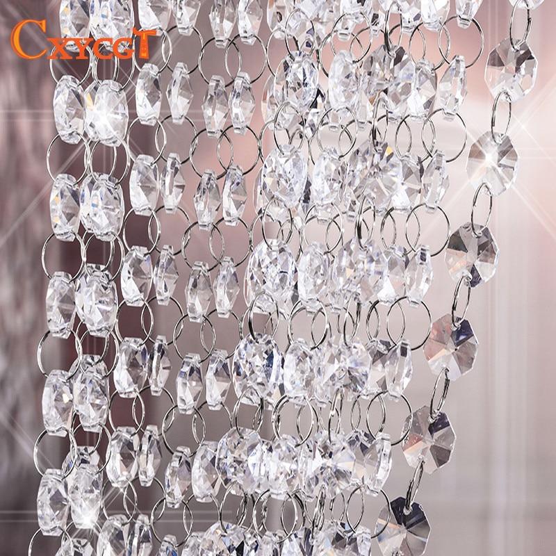 Garland Diamond K9 Crystal Octagonal Beads Curtain Bead Pendant Lighting for Pendant DIY Home Decoration 5m 14mm|k9 crystal|crystal garland lights|bead curtain curtain - title=