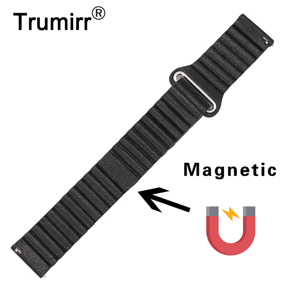 22mm Genuine Leather Watchband Quick Release Strap for LG G Watch W100 W110 W150 Urbane Wrist Band Magnetic Buckle Belt Bracelet lg watch lg watch w150 urbane silver