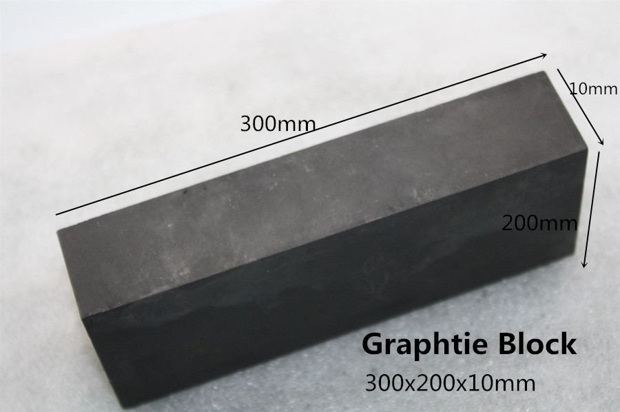 300*200*10mm Graphite plate density 1.85g.cm3 for Graphite Collet mold ,Graphite Nozzle mold household product plastic dustbin mold makers