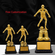 Customized Football Trophy PC Academy Sports Souvenirs Gold Oscar Awards Gold-plated Souvenir Craft Cup Champion Adwards(China)