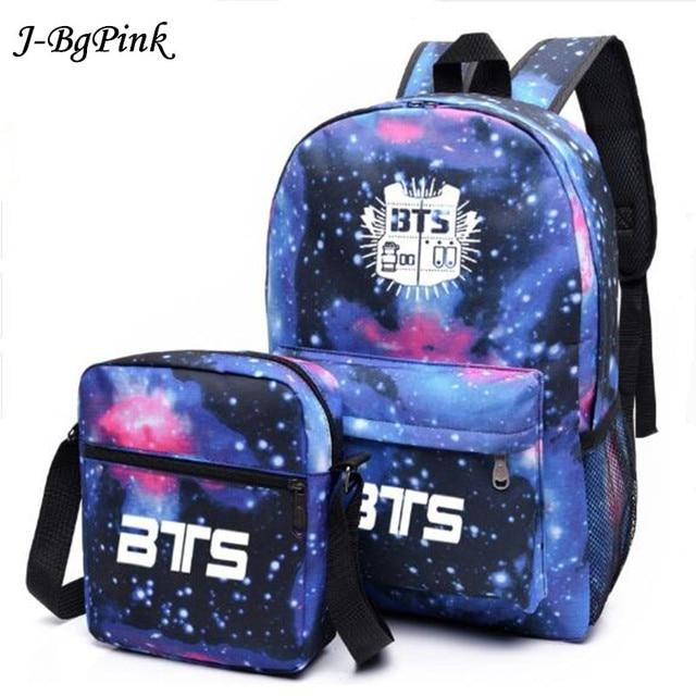 07e30793e882 2018 Мода Bangtan мальчики рюкзак печать BTS рюкзак школьные сумки для  подростков водостойкий нейлоновый мужской женский