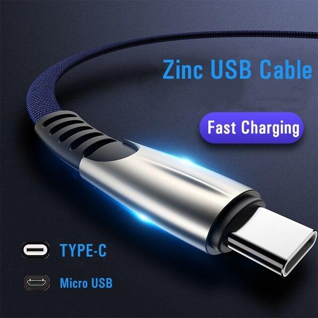 כבל USB עבור iPhone XR USB סוג C מהיר טעינת usb c כבל עבור סמסונג S9 S8 Xiaomi Pocophone F1 טלפון מטען מיקרו USB כבל